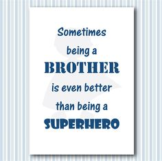 Super brother - superhero print for boys room