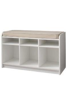 """Martha Stewart Living Storage Bench - 21h x 35w x 14"""", White"""