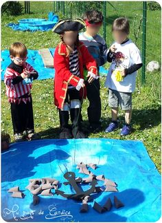 Aktiviteter og spil til en piratfest (del - I landet Candice - Jack West Pirate Games, Pirate Kids, Pirate Halloween, Pirate Theme, Pirate Birthday, 4th Birthday, Pirate Adventure, Movie Party, Girl Scouts