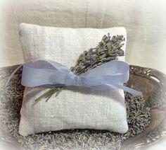 Lavender Sachet Provence France Birds Nesting Vintage Postcard Organic Lavender Sachet Bag