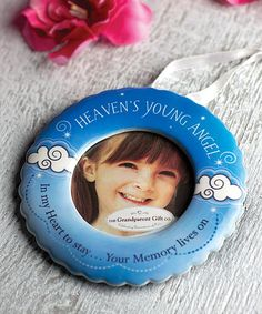 Blue 'Heaven's Young Angel' Ornament