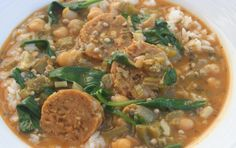 Looking for something to go with a baguette ? Try this gumbo! Andouille Sausage Make vegan sausages the same way as this recipe (but make 4...