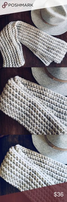 Gorgeous Hand Knitted Scarf Oh my! This is such a beautiful knitted scarf, not sure I want to sell it! This baby will keep the winter chill off of you for sure! I believe it is wool. Don't let this scarf pass you by! 💕 Accessories Scarves & Wraps