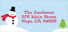 Wintry Wonderland Address Label