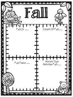 Free Fall Activity - Enjoy this free Fall writing activity! #tpt #writing #free