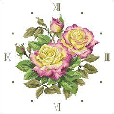 Etude a la Rose ( Fullman) Cross Stitch Bird, Cross Stitch Flowers, Cross Stitch Charts, Cross Stitching, Cross Stitch Patterns, Embroidery Patterns Free, Rose Embroidery, Cross Stitch Embroidery, Orient Express