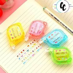 Creative DIY Correction Tape Lace Out Long Stationery Office Student Gifts School Stationery, Stationery Shop, Deco Tape, Office Deco, School Suplies, Correction Tape, Cute Stationary, Cute Pens, Decorative Tape