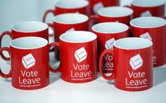 London is Open: Design Verdict: Vote Leave Wins Vote Leave, Logo Design, Graphic Design, Leaves, Mugs, London, Tumblers, Mug, London England
