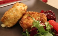 Herb Coated Crispy Deep Fried Brie