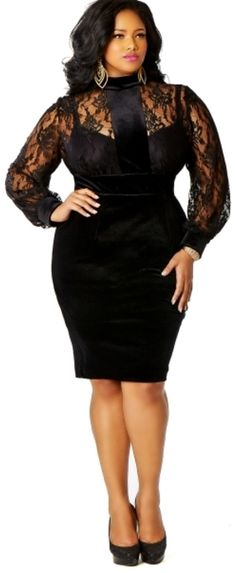 Black Lace Dress Womens Plus Size Fashion Unique Style Inspiration Urban Apparel #UNIQUE_WOMENS_FASHION