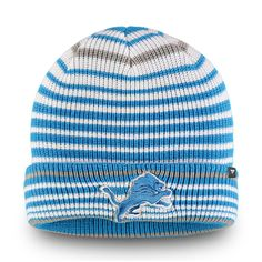 b45faab6f32dc Detroit Lions NFL Pro Line by Fanatics Branded Iconic Layer Core Cuffed Knit  Hat White