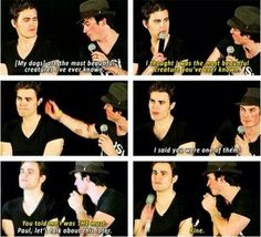 The Vampire Diaries Ian(Damon) & Paul(Stefan) xD Vampire Diaries Damon, Vampire Diaries Quotes, Vampire Diaries The Originals, Paul Wesley, The Salvatore Brothers, Damon And Stefan, Vampier Diaries, Original Vampire, Mystic Falls