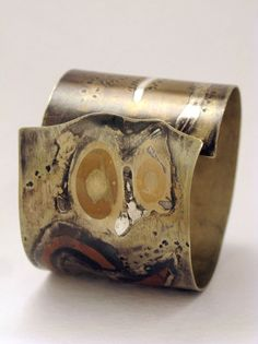 Cuff Bracelet by Valeria Dowding - 925 silver, 1000 silver, copper, bronze and nickel silver http://joyasvaldowding.blogspot.in/