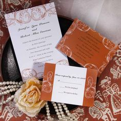 Today's topic is still about fall and autumn wedding colors and this post is typically for those brides who are in favor of blacks. We have selected five beautiful color combinations in shades of the classic b. Fall Wedding Colors, Autumn Wedding, Orange Wedding Invitations, Invites, Orange Leaf, Reception Card, Autumn Inspiration, Wedding Cards, Dream Wedding