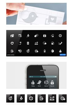 mobile interface icons / by Tom Nulens