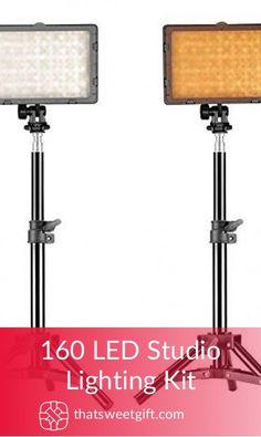 160 LED Studio Lighting Kit