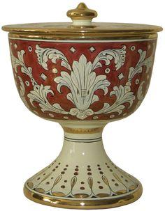 Italian Majolica Ceramic Urn