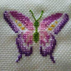 Cross stitch pattern PDF - But Butterfly Cross Stitch, Mini Cross Stitch, Cross Stitch Cards, Cross Stitch Animals, Cross Stitch Flowers, Cross Stitching, Cross Stitch Embroidery, Embroidery Patterns, Cross Stitch Designs