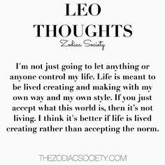 Leo Thoughts    thezodiacsociety.com
