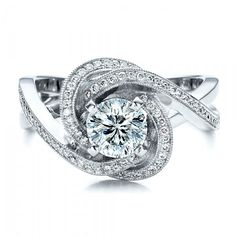 Art Deco 1930's Traub Orange Blossom 1 Carat Old Euro Diamond Ring