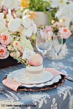 Bridal Shower place setting ideas {Debbie Kennedy Events & Design}