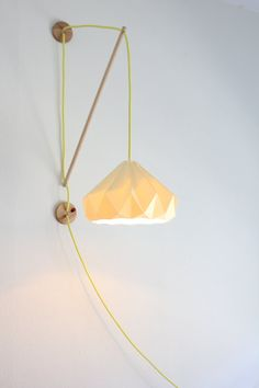 Wall fixture Klimoppe with paper lamp Chestnut by Studio Snowpuppe