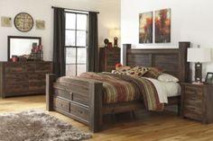 Bedroom Groups | Ashley Quinden Queen Storage Bed/Dresser/Mirror/Ntsd | Homemakers Furniture