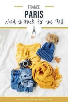 Packing for Paris in fall - What to wear and how to pack for a trip in the autumn. Things to keep in mind when planning what to wear in Paris in the fall. The weather can be tricky during this season so packing requires even more thought!  Packing list for Paris in the fall. Paris Travel Tips, Europe Travel Guide, France Travel, Backpacking Europe, Travel Guides, Summer Packing Lists, Packing List For Travel, Packing Tips, Day Trip From Paris