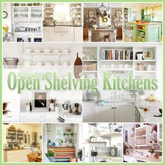 Do you love the look of open kitchen shelves? These 25 kitchens give you plenty of ideas for filling these lovely storage and display areas in your kitchen! Kitchen Shelf Design, Kitchen Shelves, Kitchen Decor, Kitchen Ideas, Bar Shelves, Kitchen Cabinets, Farmhouse Style Kitchen, Modern Farmhouse Kitchens, Home Kitchens