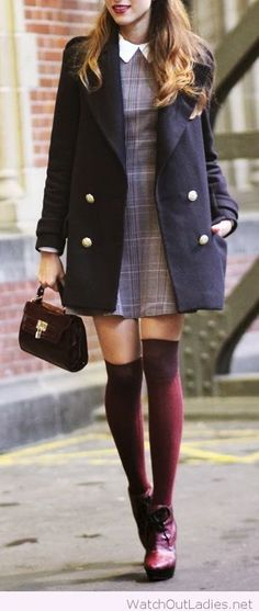 The peter pan collar and navy coat