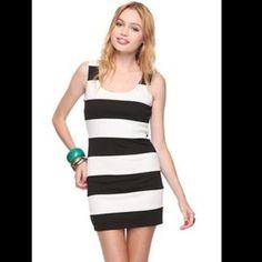 Forever21 Black And White Stripe Dress
