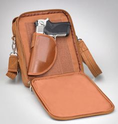 GTM-0014 Concealed Carry Urban Shoulder Bag. Rock Solid His and Her Bag - Get it Together! Fits Gun Size/s: Revolver up to 1911/Commander