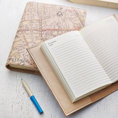Personalised Refillable Vintage Map Diary from notonthehighstreet.com