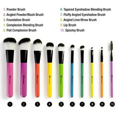 BH Cosmetics 10 pc Pop Art Brush Set
