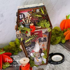Surprise!! A special mixed media Halloween kit! - Simon Says Stamp Blog Spooky Halloween Crafts, Halloween Labels, Halloween Treat Bags, Halloween Projects, Halloween Cards, Halloween Decorations, Glue Crafts, Paper Crafts, Simon Says Stamp Blog