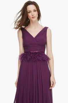Vestido de seda con escote romántico - Cóctel | Adolfo Dominguez shop online