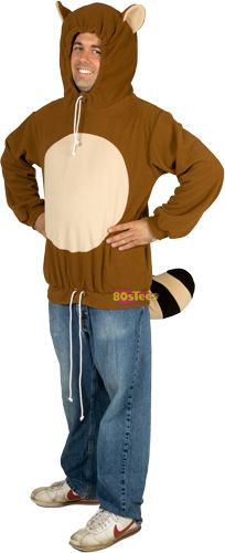 Racanooki Costume Hoodie   ... kindly notice EARS on HOOD and a Tail !! PaDOW! BOOM and BAZINGA ! ! !