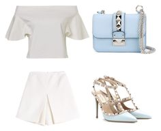 """""""BLUE """" by evelinafitri on Polyvore featuring Carven, Valentino, women's clothing, women's fashion, women, female, woman, misses and juniors"""