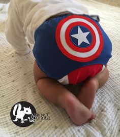 07d6be17a Captain America / Superhero / Baby Cloth Diaper Cover or Pocket Diaper (One  Size)