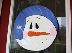 Snow man top, hand cut and hand painted wooden Snowman top! Clear coated to resist weather. on Etsy, $38.00