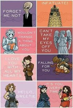 The best. Doctor Who themed valentines day cards. The falling for you one broke my heart.