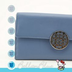 """Spotted while shopping on Poshmark: """"Periwinkle blue Tri-Fold COACH wallet""""! #poshmark #fashion #shopping #style #Clutches & Wallets"""