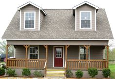 Custom Ranch with Sidewall Porch and Dormers by TUFF SHED Storage Buildings & Garages, via Flickr