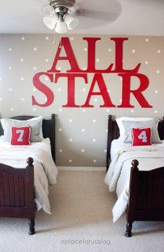 letras XXL para una habitacion de 2! | Decorar tu casa es facilisimo.com