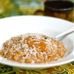 Coconut Peanut Butter Oatmeal. Full recipe