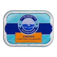 Sardines à l'huile d'olive et au piment Bio - La Compagnie Bretonne du Poisson - Etre Gourmand