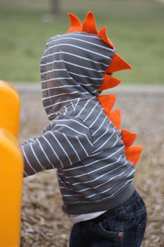 Dinosaur Hoodie. So cute for a lil man