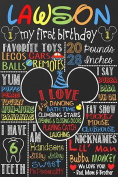 Mickey Mouse 1st Birthday Mickey Mouse by CustomPrintablesNY?