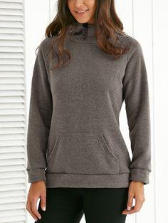 Hooded Long Sleeve Front Pocket Design Hoodie