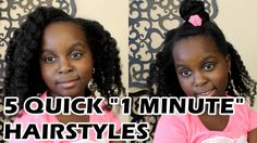 "5 SUPER Easy ""1 Minute"" Natural Hair Hairstyles by Lil Sis - YouTube"